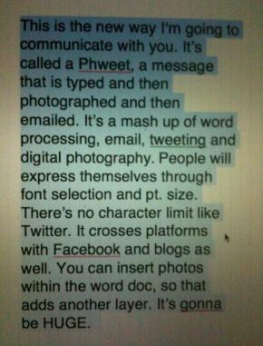 #24 Jelly Helm's neat Phweet + Handwritten Creative Brief on Prezi