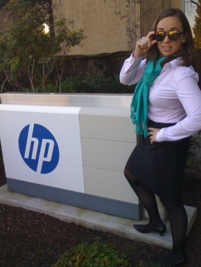 The Unsinkable Erin Malone at a visit with HP