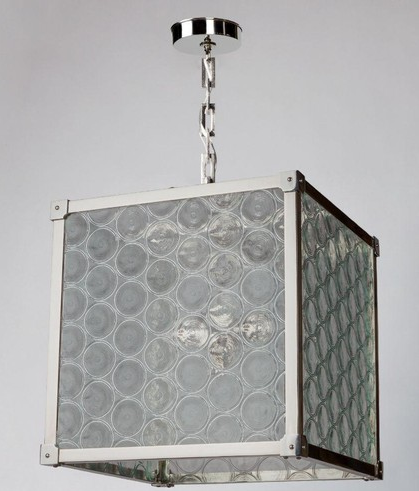 Marlowe Lantern With Rondelle Glass - Remains Lighting